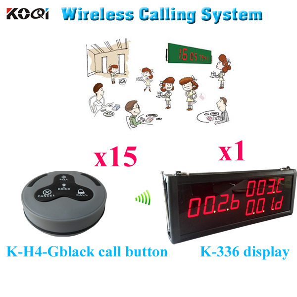Waitress Paging System Button To Call The Elevator Restaurant Table Caller( 1 display 15 call button)(China (Mainland))