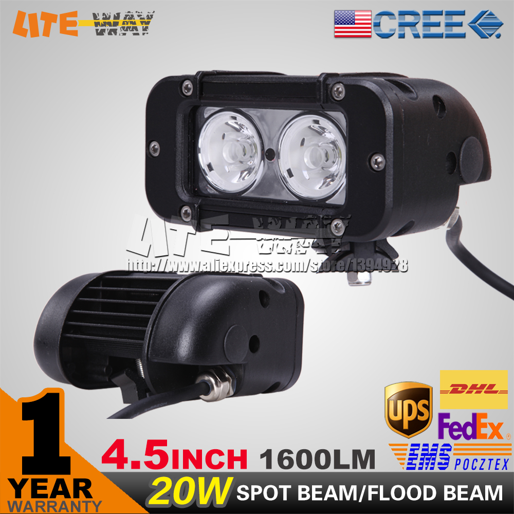 2PCS 5 INCH 20W CREE LED LIGHT BAR LED DRIVING LIGHT SPOT FLOO DBEAM IP68 FOR OFFROAD 4x4 ATV UTV USE(China (Mainland))