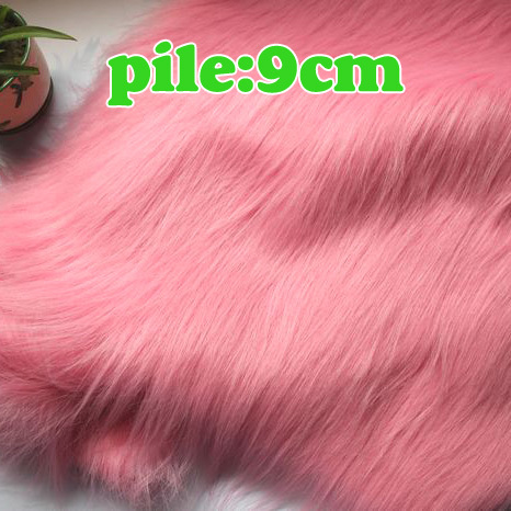 """Pink Solid Shaggy Faux Fur Fabric (long Pile fur) Costumes Cosplay Backdrops Cloth 36""""x60"""" Sold By The Yard Free Shipping(China (Mainland))"""