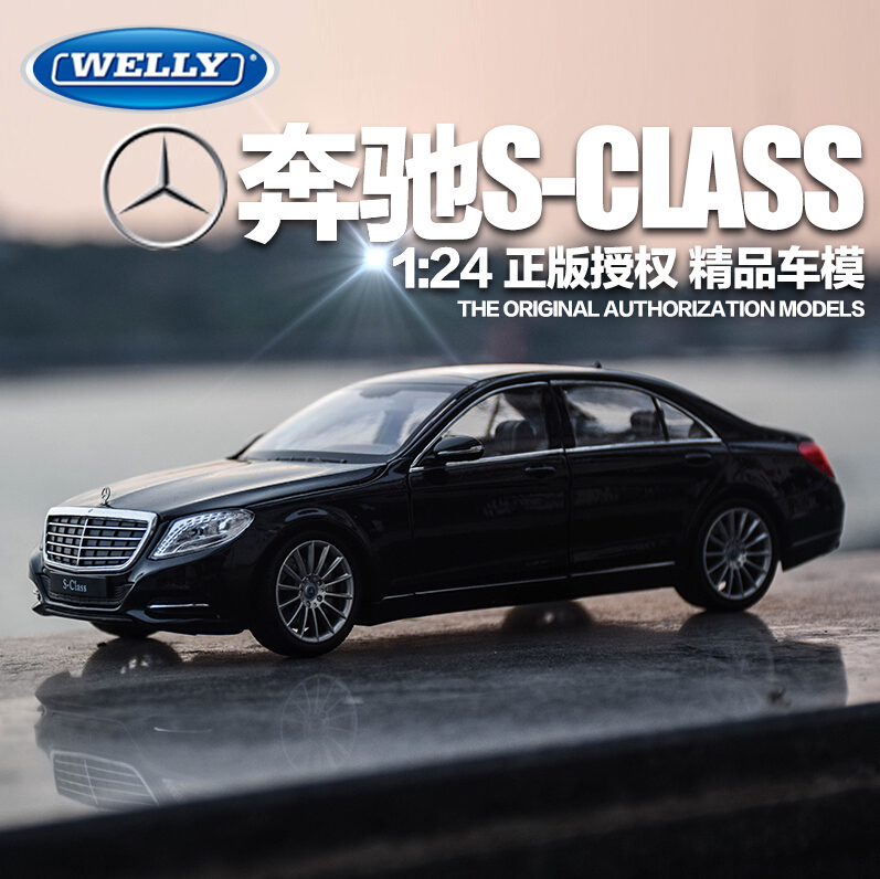 Welly 1:24 original alloy car models FX series mercedes-benz S500 car model toys wholesale collection gift car(China (Mainland))