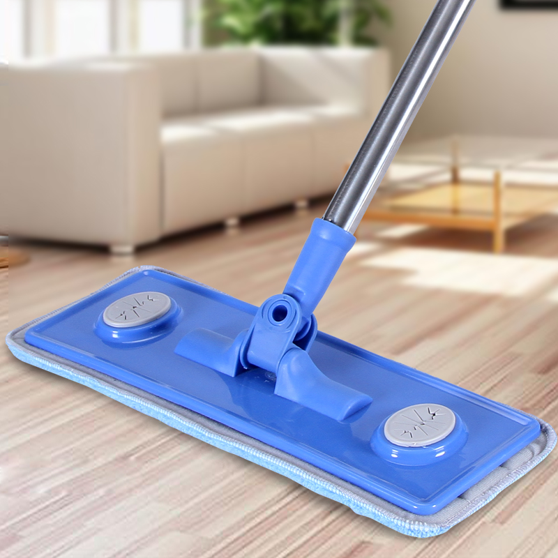 Wood floor flat mop andwhen mop head Large household 360 degree spin dry magic mop rotating mop(China (Mainland))