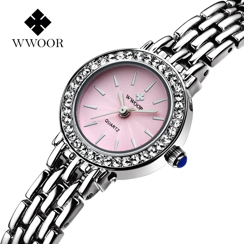 WWOOR 2015 Casual Watch Geneva Quartz Watches Women Analog Wristwatches Stianless Steel fashion Watches Relogio Feminino<br><br>Aliexpress