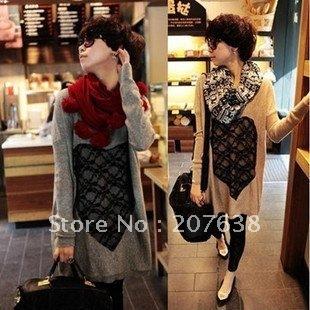 Best Selling!!loose wool sweater  Lace heart wool sweater for women weave sweater+free shipping