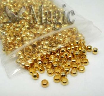 FREE SHIPPING 5000 Gold Plated Crimp Beads Findings 2.5mm Jewelry Making Findings Supplies