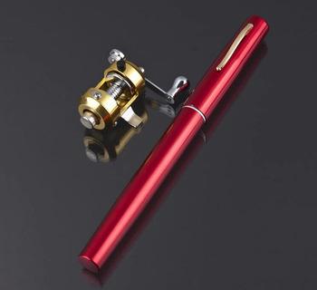 Портативный Карманный Удочка + reel Телескопический Мини Удочкой ручка Углерода рыбы стержней С Катушка Колесо Рыбы Комплекты Высокого качество