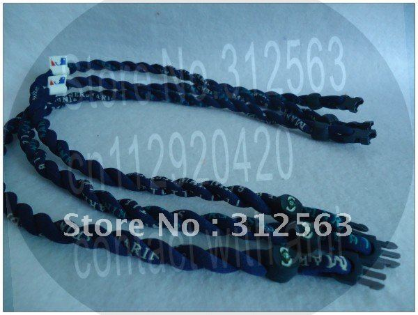 Seattle Mariners  twist necklace ,2 ropes tornado  titanium necklace ,27 teams mixed