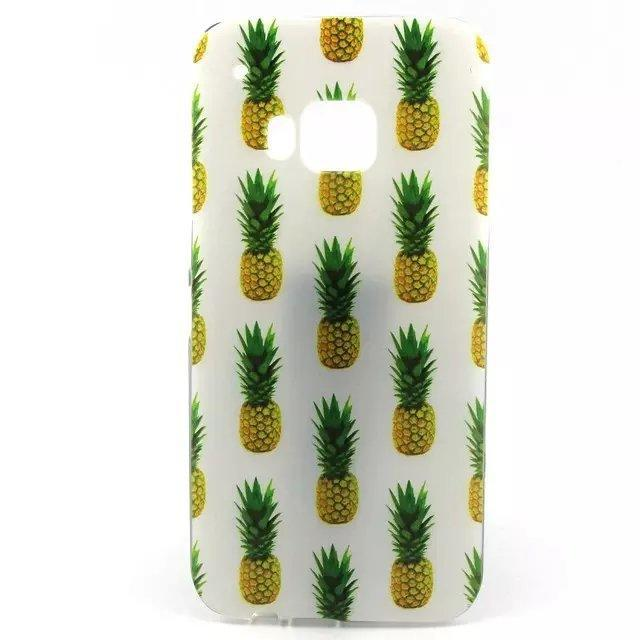 Pineapple Flower Eiffel Tower Soft TPU Case For HTC ONE M9 Dog Live the Life You Love Tribe Rose Cartoon Cake Back Skin 15PCS(China (Mainland))