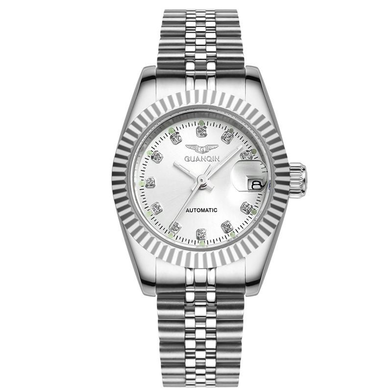Montre Femme 2016 Женские Часы Высокого Качества Водонепроницаемый GUANQIN Марка Мода Золото Платье Часы Женские Часы Дамы Браслет Часы