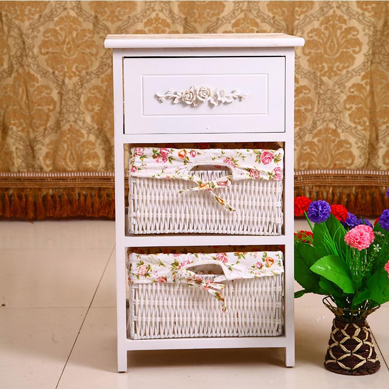 EC FURNITURE Special storage lockers pastoral cabinet modern wood bedroom nightstand bedside cabinet storage cabinet simple rat(China (Mainland))