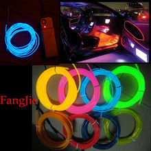 Free shipping 10 color package Electroluminescent 5M EL Wires with Battery Box Kit for Car Bicycle wheel dance Party Decoration(China (Mainland))