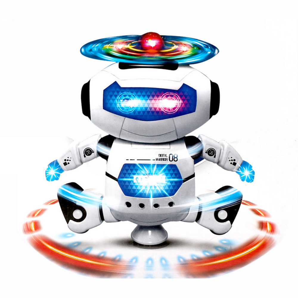 Stunt Kidrobot Superhero Dance Electric Robot With Light Music Musical Toys For Children Infant Adult Action Figures(China (Mainland))