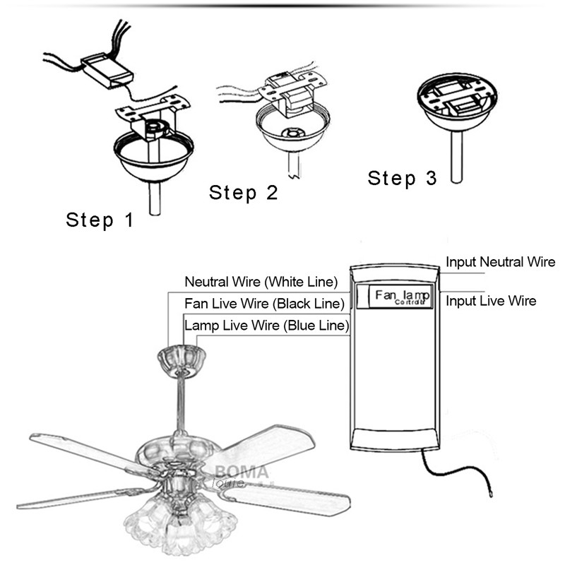 Wholesale Universal Wireless Ceiling Fan Lamp Remote