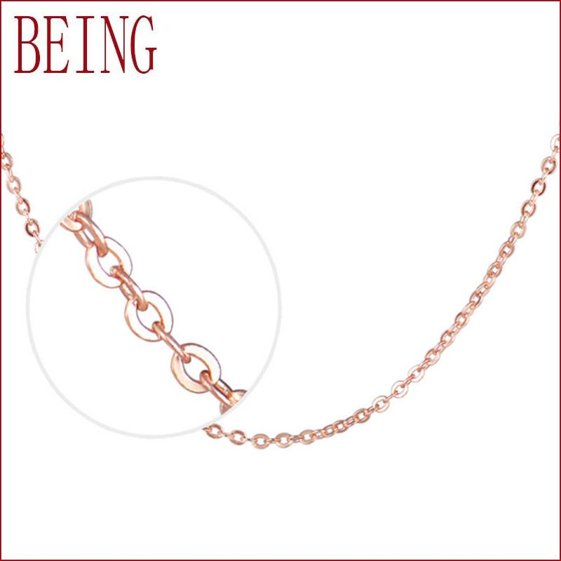 Hot new fashion silver plated rose gold necklace chain for Women starry seed bone jewelry manufacturers wholesale 45CM(China (Mainland))