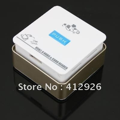 free shipping!!!new HI-SPEED USB2.0 3PORT HUBS+4SLOT PUSH-PUSH COMBO 10pcs/lot 902055-WN120704