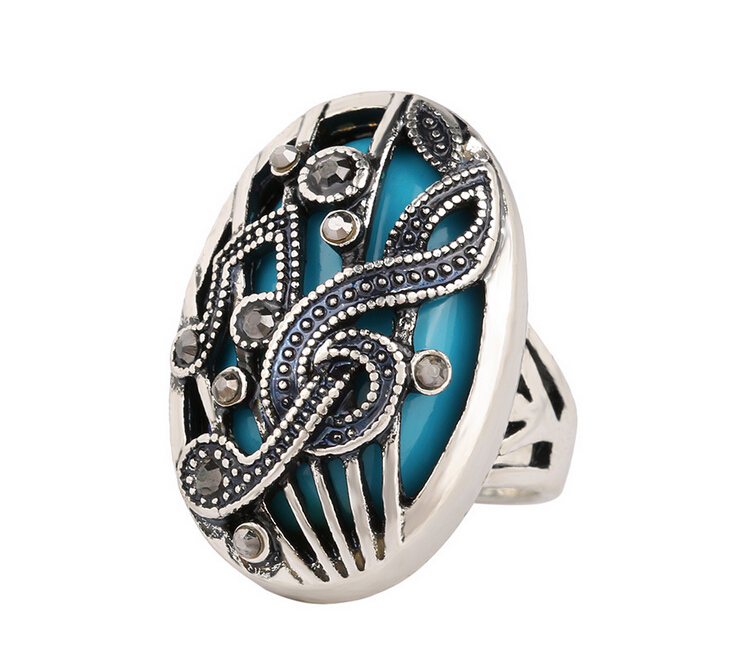 retro ethnic hollow out carving music simulated diamond rings for women fashion men ring unisex hot uhu381(China (Mainland))