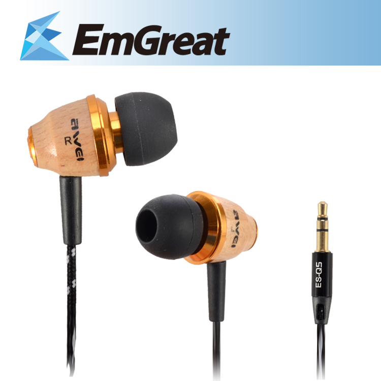 ES-Q5 Stereo Wood Headset Earphones Earbuds Iphone Samsung Ipad Xiaomi mp3 mp4 Cell Phone fone de ouvido auriculares - Shenzhen Emgreat Technology Ltd. store