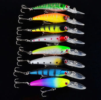 """8pc top Fishing Lures 8 colors 3.6""""-9.14cm/0.291oz-8.25g fishing bait with #6 hook 8pcs/lot fishing tackle"""