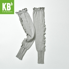 2017 KBB Spring Delicate Women Female Knit Warm Knitted Acrylic Gray Frills Style Leg Covers Leggings Winter Leg Warmer(China (Mainland))