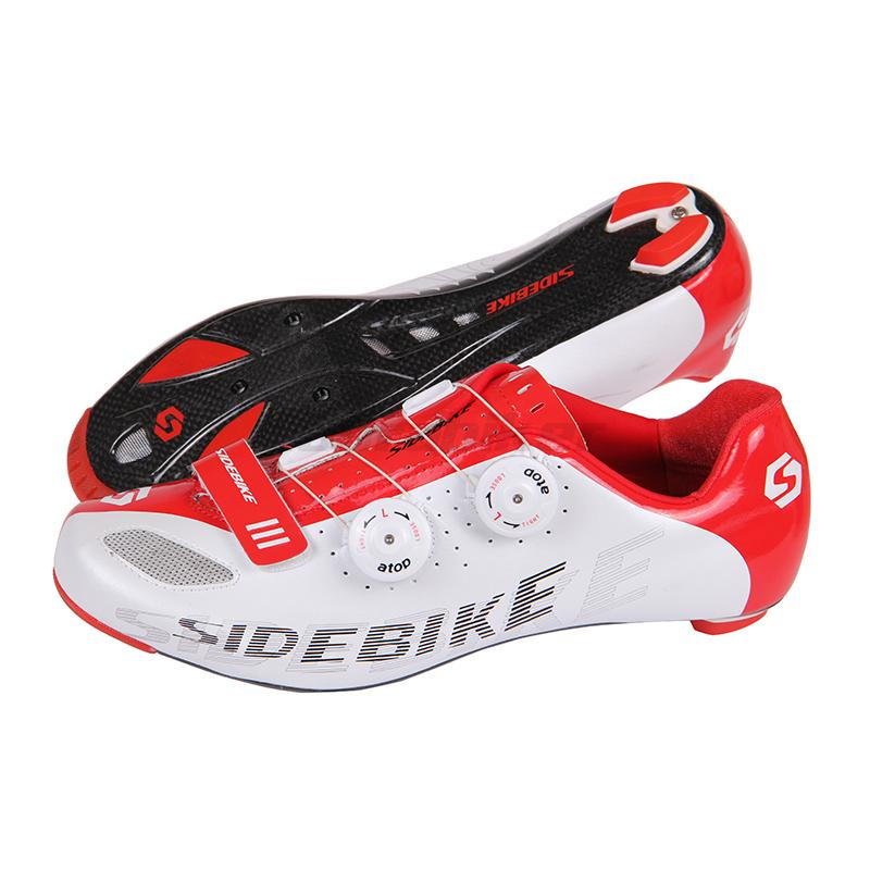 Hot Selling SIDEBIKE Carbon Fiber Lightweight Triathlon Athletic Shoes Road Racing Bike Shoes Bicycle Cycling Self-Locking Shoes