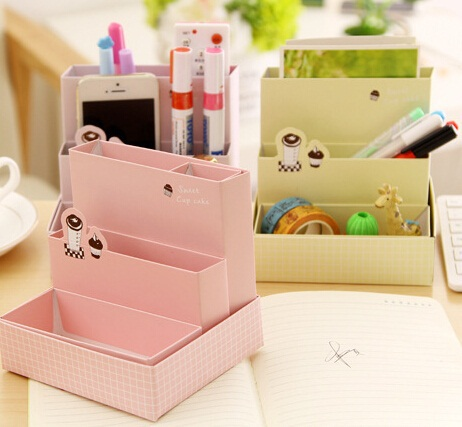Freeshipping! New creative Cake design table box/clean up box / Multi-function / DIY Storage / paper pencil box/Wholesale(China (Mainland))