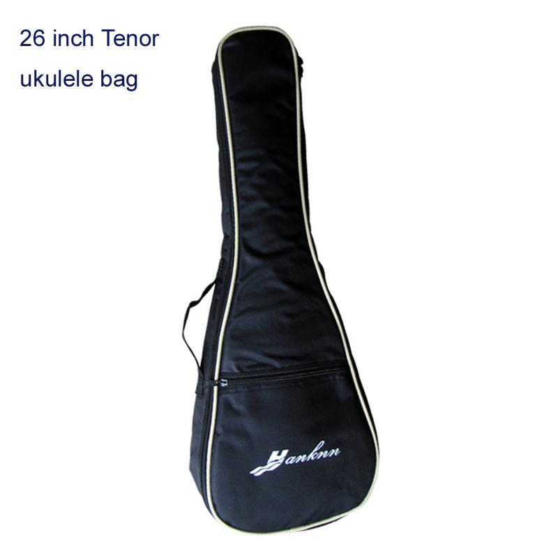 wholesale quality bag 26 inch Tenor ukulele cover uke cotton case ukelele free shipping 21 guitar Soft Case Black guitarra(China (Mainland))