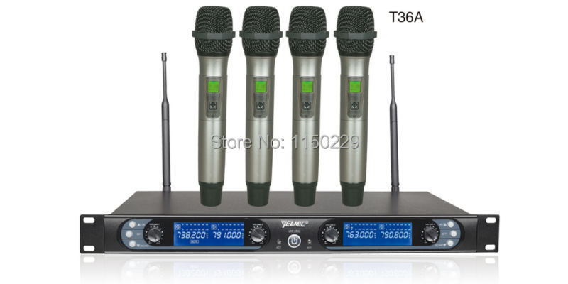 YEAMIC 8845T36A Four Channels Wireless Conference Microphone ID validate IR synchronization MIC<br><br>Aliexpress