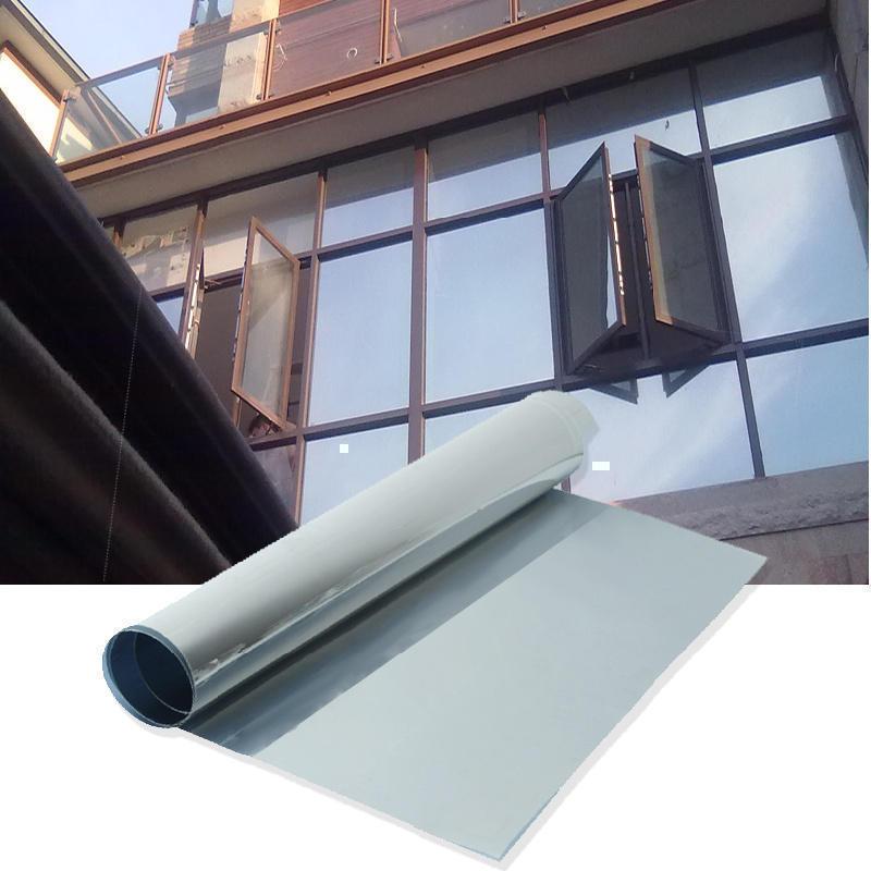 50x100cm Window Film One Way Mirror Silver Insulation Stickers Solar Reflective Home Decoration Supplies(China (Mainland))