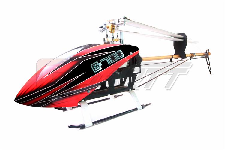 GARTT 700 DFC TT RC Helicopter Torque Tube Version fiber glass canopy fits Align Trex(China (Mainland))