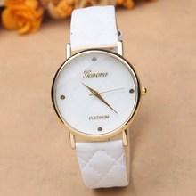 New arrival quartz watch women geneva fashion leather watch dress luxury ladies wristwatches female clocks hours