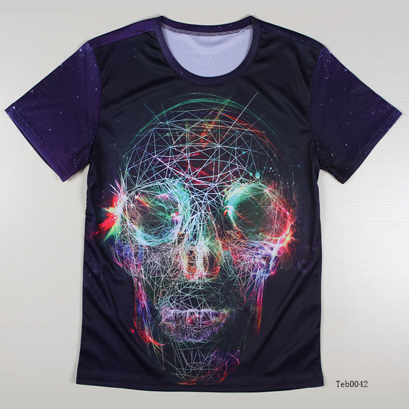 Top cool skull t shirt for men short sleeve fashion unique for Unusual shirts for men