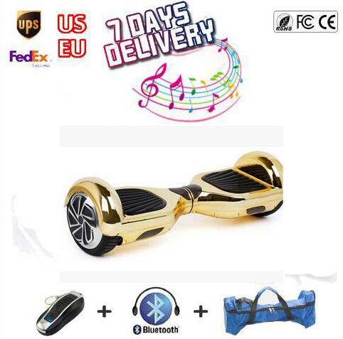 ul Chrome Electroplate 2 wheel self balancing scooter 6.5 inch hoverboard electric skateboard smart oxboard hover board