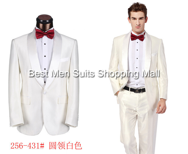 Korean Style Fashion Mens Clothing White Formal Groom Suits(Jacket+Pants+Tie)Classic mens Business Suits XS-5XLОдежда и ак�е��уары<br><br><br>Aliexpress