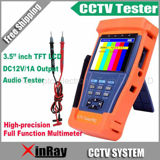 """3.5"""" inch CCTV Tester with Full Function Multimeter TFT-LCD Monitor Camera Video Test / PTZ UTP RS485 XR-CT4,Free Shipping"""