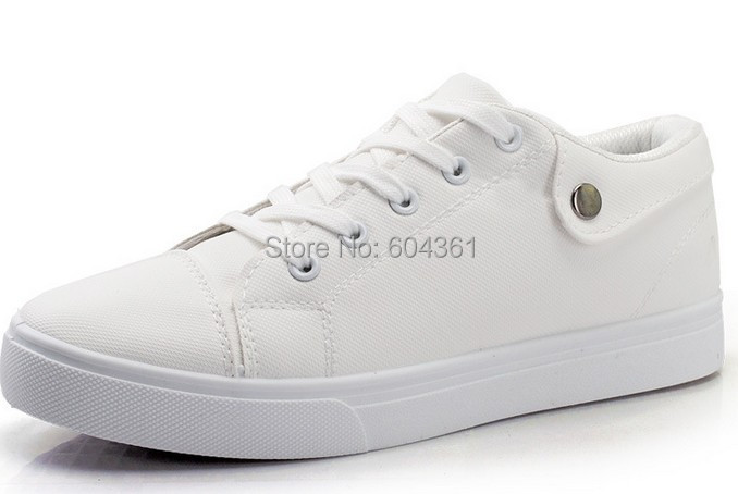 free shipping new high fashion tide men solid shoes casual ankle flat board sport shoes sneakers spring autumn Breathable white(China (Mainland))