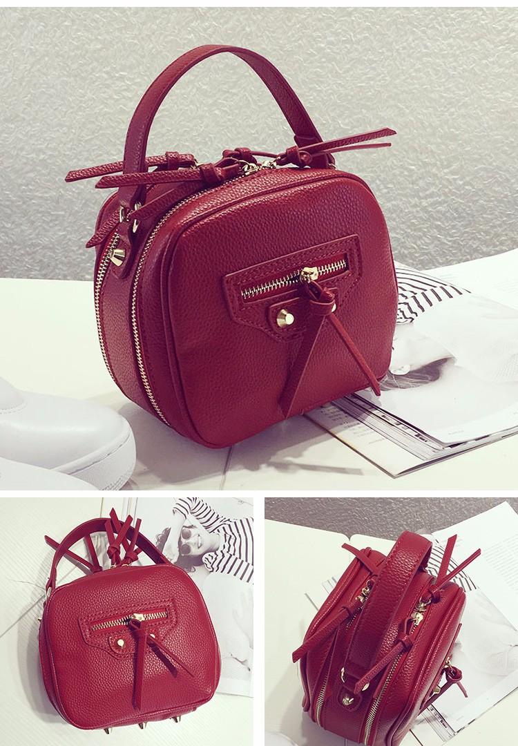 Double-layer motorcycle Bag Women PU Leather Stylish Handbag Occident Style Fashion Designer Ladies Luxury Shoulder Bag