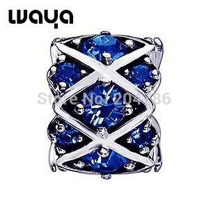 2014-New-Wholesale-Free-Shipping-925-Silver-Charm-Beads-With-Blue-Crystal-For-Bracelets-Bangles-DIY-(1)
