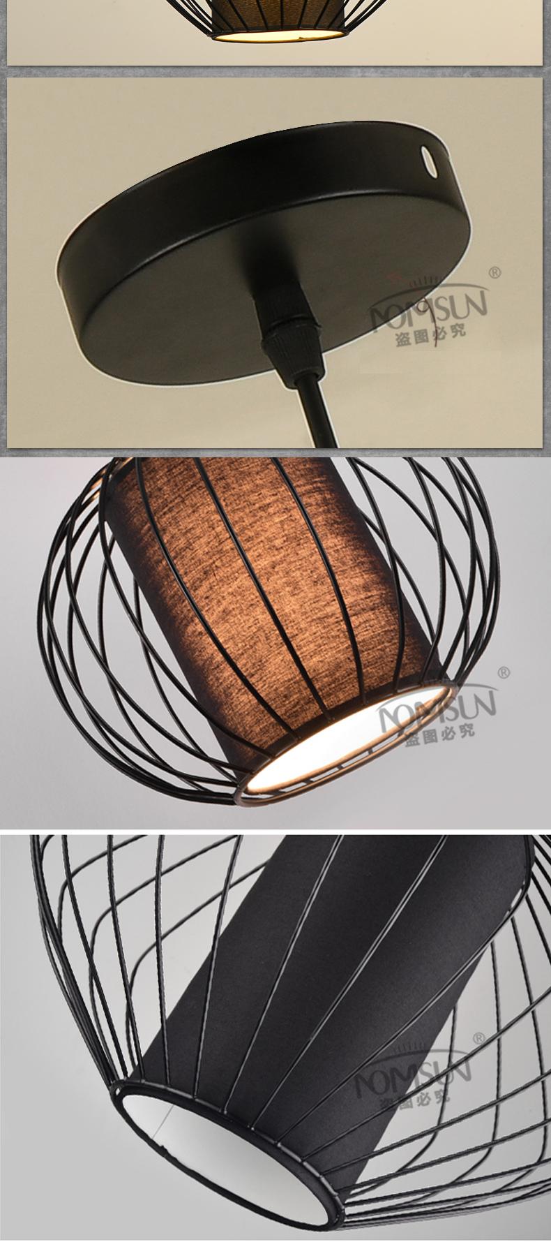 vintage pendant lights white/black color lampshade loft style kitchen dining room luminaire suspendu pully retro pendant lamp