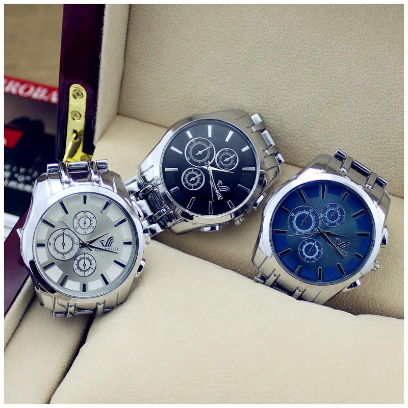 ORLANDO masculino Luxury Brand Oirignal Quartz Wristwatches With Date full Steel Business Casual Watches Men Watch(China (Mainland))