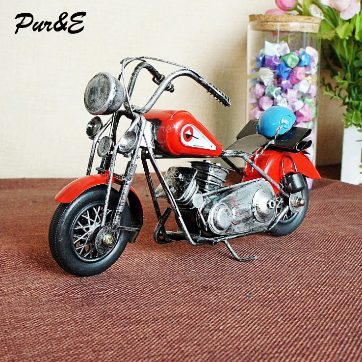 Hot fashion creative retro iron motorcycle model gifts home decoration metal crafts HDC0847 - Pur&E Co., Ltd. store
