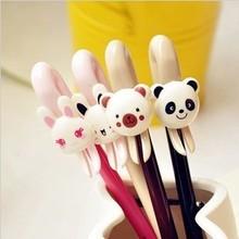Корея творческих канцелярских свежий и прекрасный акриловые пластиковые гелевая ручка школа supplie медведь банни шариковая ручка каваи ручки милые ручки