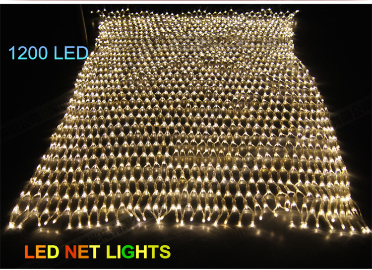 1200 LED Net Light/Red de la lampara Christmas Lights/Wedding/Party Decoration Colorful Beautiful LED Lighting(China (Mainland))