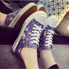 2015 New Desigual Lace Up Women Sneakers Flower Low Top Flats Canvas Shoes Comfortable Girl Sneakers