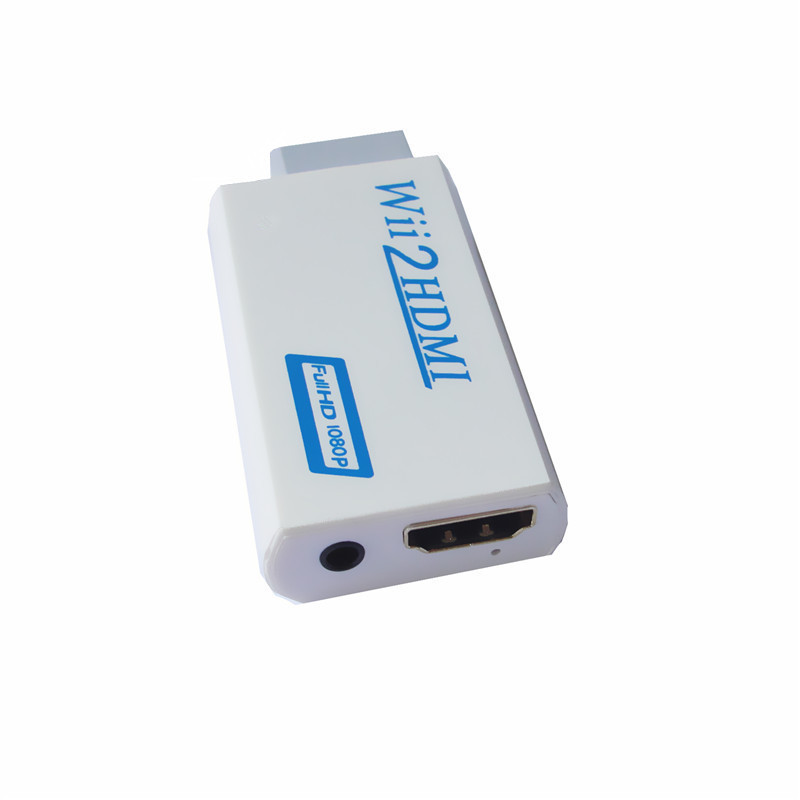 1 pcs Free Shipping Hot Sale New White Wii to HDMI Wii2HDMI Adapter Converter Full HD 1080P Output Upscaling + 3.5mm Audio Box(China (Mainland))