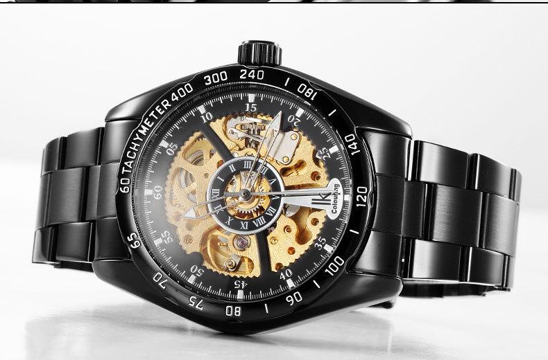 Ik часы автоматические механические мужской стол двухлобной вырез мужские часы повседневная мода смотреть