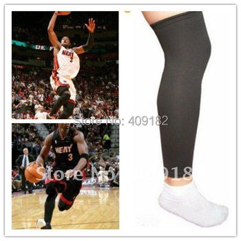 New Top Hot  Black Basketball Sport Stretch Protector Leg Sleeve knee pad  protector kneelet Canions M L size