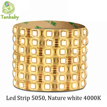 Buy Tanbaby Nature white 4000K led strip DC12V SMD 5050 5M 60led/M flexible led rope indoor outdoor decoration light ulter bright for $7.49 in AliExpress store