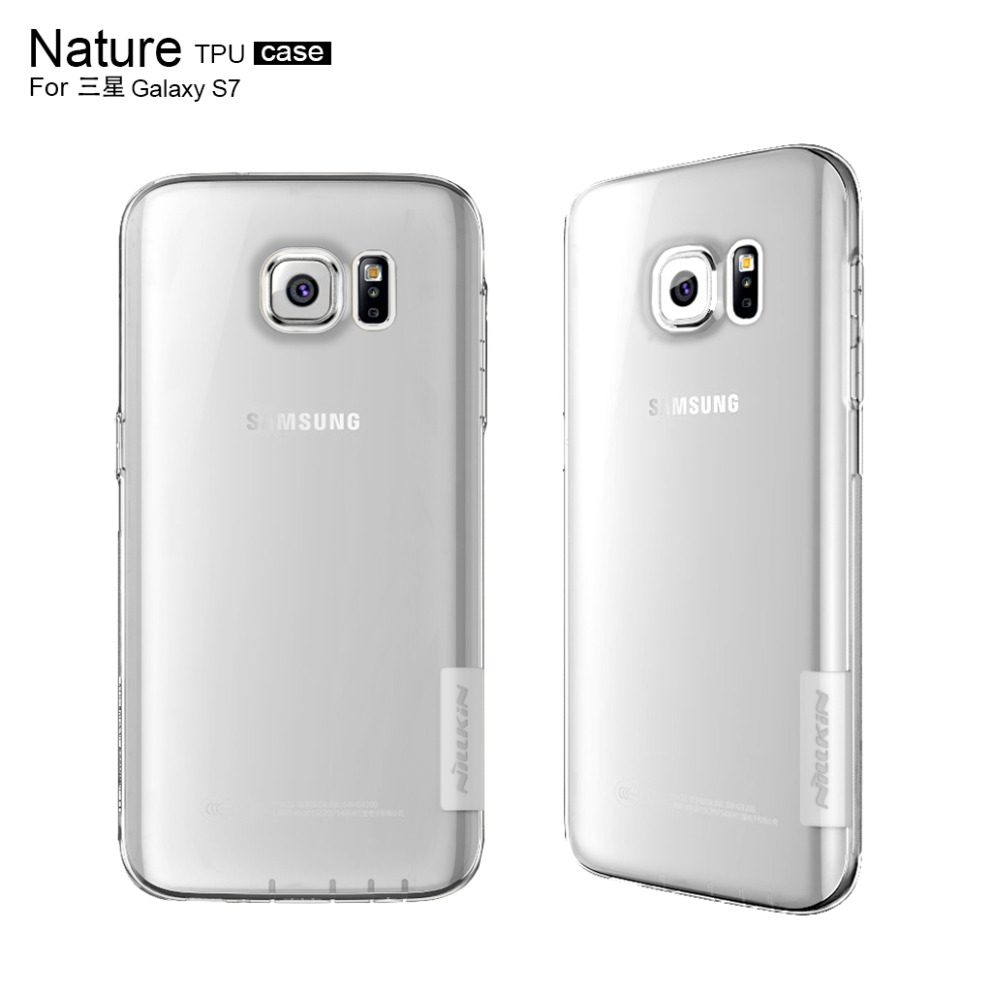 S7 TPU Case Nillkin Gel Clear Transparent Nature Silicone Cover For Samsung Galaxy S7(China (Mainland))