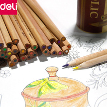 Buy Deli Stationery Art Supplies Nature Wood Colored Pencils Drawing Sketch Pencils Office School Supplies (12/18/24/36/48 Colors) for $8.72 in AliExpress store