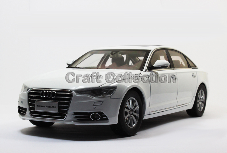 White Car Model New Audi A6L A6 2012 Diecast Luxury Vehicle Festival Gifts - Craft Collection store