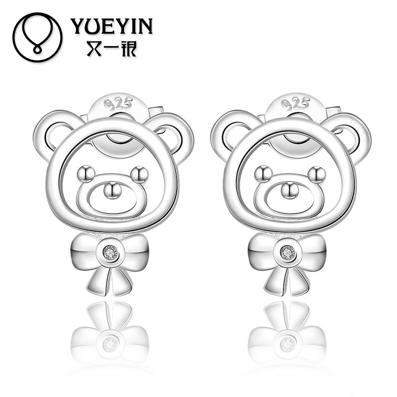2015 New hit a bear studs high quality fashion E544(China (Mainland))
